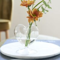 Glasvase - Happy Heart Flower Vase 1 STK. TILBAGE