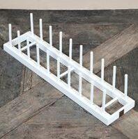 Tallerken holder - Wooden Plate Rack With 10 Sticks