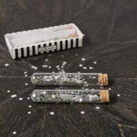 Sølvstjerner - Let It Sparkle Tubes silver 2 pcs