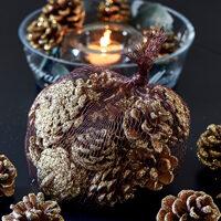 Kogler m. guldglmmer - Majestic Pinecones gold