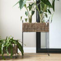 Blomsterstander - Rustic Rattan Planter High