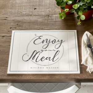 Dækkeserviet - RM Enjoy Your Meal Placemat