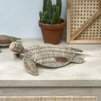 Rattan skildpadde - Rustic Rattan Happy Turtle S