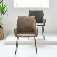 Spisebordsstol – Frisco Drive Dining Armchair Pellini Coffee – PÅ LAGER
