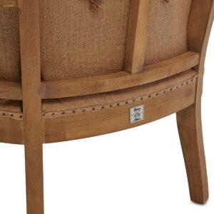 Lænestol - Cunningham Wing Chair Lin Fab Flax BESTILLINGSVARER