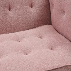 Sofa - Radziwill Sofa 3S Linen PrsPink BESTILLINGSVARER