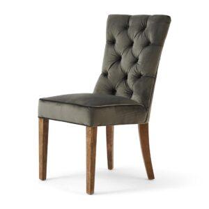 Spisebordsstol - Balmoral Dining Chair, Velvet SlateGrey - BESTILLINGSVARER