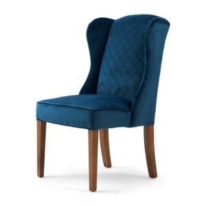 Spisebordsstol - William Dining Chair, Velvet Ocean Blue BESTILLINGSVARER