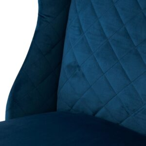 Spisebordsstol - William Dining Chair, Velvet Ocean Blue BESTILLINGSVARER