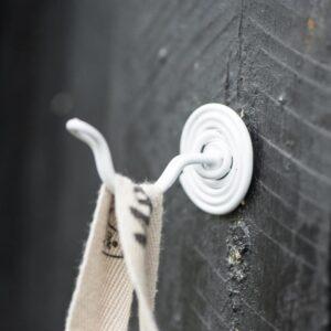 Knage spiralformet – Hvid