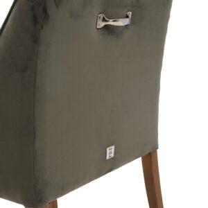 Spisebordsstol- Savile Row DAC - Velvet Slate Grey  BESTILLINGSVARER