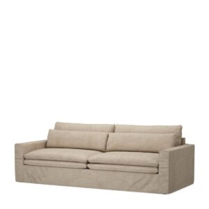 Sofa - Continental Sofa, Natural, Washed Cotton BESTILLINGSVARER