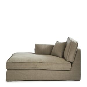 Modulsofa – Metropolis Chaise Longue Left, washed cotton BESTILLINGSVARER