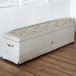 Bænk - The Club Bench 160 x 40 cm, linen, flax BESTILLINGSVARER
