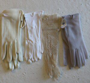 gamle antik handsker - 4 stk.