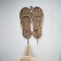 Knagerække - Rustic Rattan Flip Flop Cloth Hook