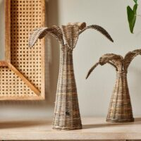 Rustic Rattan Palm Tree M