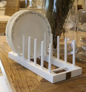 Tallerken holder - Wooden Plate Rack With 7 Sticks