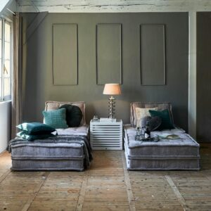 The Uptown Sofa, velvet, taupe BESTILLINGSVARER