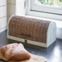 Brødbox - Rustic Rattan Pan de Molde Box