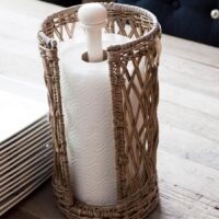 Køkkenrulleholder - Rustic Rattan Kitchen Roll Holder