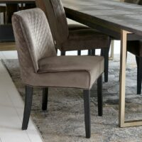 Bridge Lane Dining Chair Diamond Stitch, velvet III, anthracite - BESTILLINGSVARER