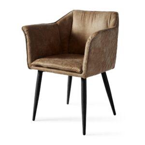 Megan Dining Arm Chair Black Leg, pellini, coffee - BESTILLINGSVARER