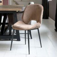 Spisebordsstol - Mr. Beekman Dining Chair, velvet III, golden mink - BESTILLINGSVARER