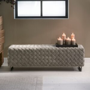 Room 48 Bench, fine tweed, pebbles - BESTILLINGSVARER
