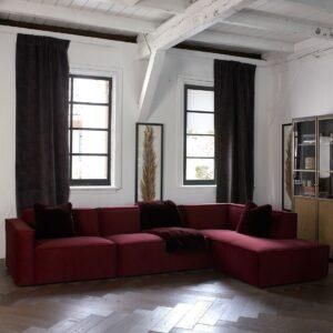 The Jagger Chaise Lounge Right, velvet - Bestillingsvarer