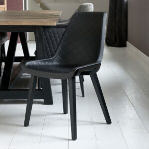 Amsterdam City Dining Chair Black Leg, black - Bestillingsvarer