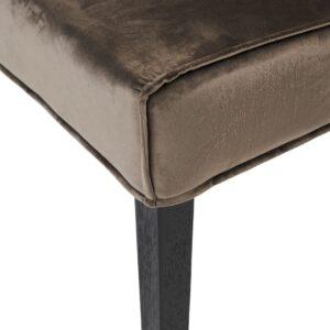Bridge Lane Dining Chair Diamond Stitch, velvet III, anthracite - BESTILLINGSVARER