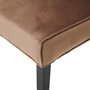 Bridge Lane Dining Chair Diamond Stitch, velvet III, golden mink - BESTILLINGSVARER