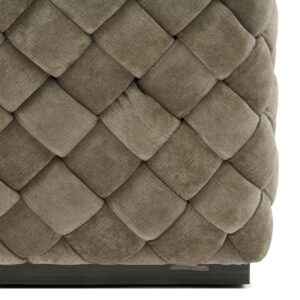 Room 48 Stool 40x40, fine tweed, pebbles - BESTILLINGSVARER