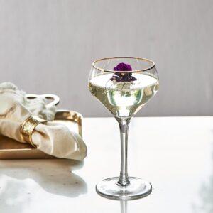2 stk. Champagneglas - Champagne Piscine Glass