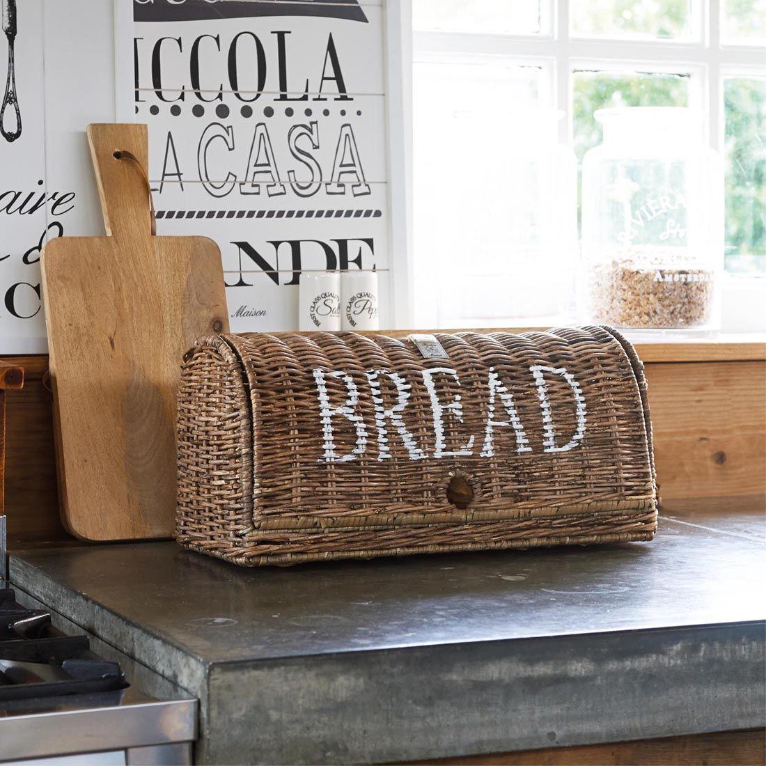 Brødbox - Rustic Rattan Bread Box