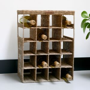 Vinreol - Rustic Rattan Wine & Love Wine Rack