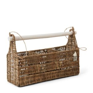 Bestikholder - Rustic Rattan Organise Your Cutlery Holder Rec