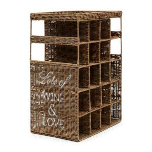 Vinreol - Rustic Rattan Wine & Love Wine Rack