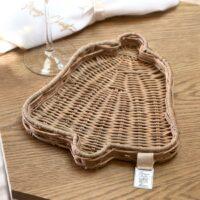 Bakke - Rustic Rattan Bell Mini Tray