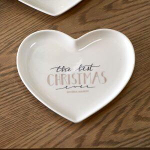 Hjerte tallerken - Merry Christmas Heart Plate S