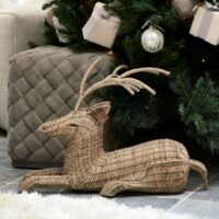 Hjort - Rustic Rattan Deer