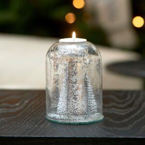 Julelysestage - Pretty Christmas Votive silver