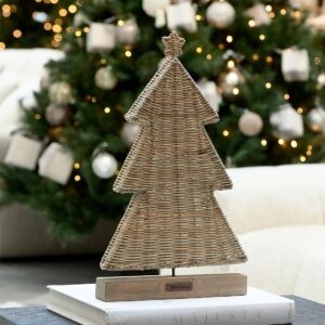 Juletræ - Rustic Rattan Flat Christmas Tree