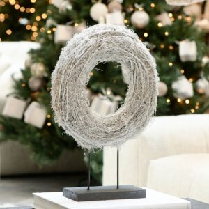 Lovely Christmas Wreath On Stand
