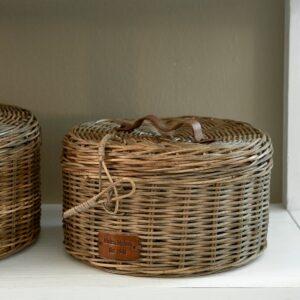 Rund box - Rustic Rattan Box Round S