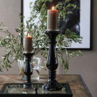 Sort lysestage - Prince Street Candle Holder L