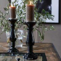 Sort lysestage - Prince Street Candle Holder M
