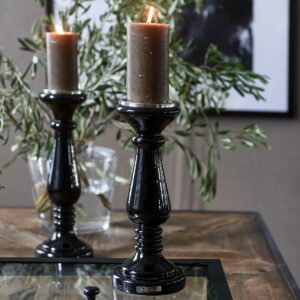 Sort lysestage - Prince Street Candle Holder M