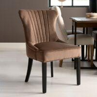 Spisebordstol - Davis Dining Chair, velvet III, golden mink - 2 stk. på lager